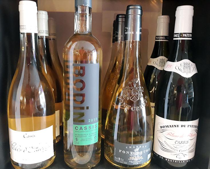 vins AOC cassis : Le Clos D'Albizzi, Domaine du paternel, Domaine Fontcreuse, Domaine Bodin
